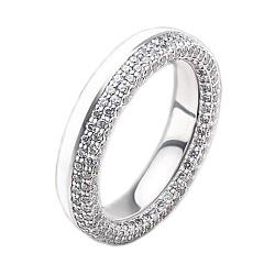 Женское золотое обручальное кольцо Вдохновленные друг другом с бриллиантами и эмалью 000015962