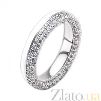 Женское золотое обручальное кольцо Вдохновленные друг другом с бриллиантами и эмалью PRT--WR2018-18