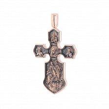 Золотой крест с чернением Ангелы небес