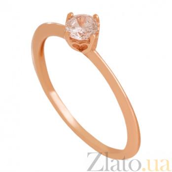 Кольцо из красного золота с фианитом Элинора VLN--212-1757