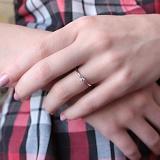 Помолвочное серебряное кольцо Тебе одной с фианитом