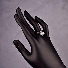 Серебряное кольцо Удача с подвеской-клевером и фианитами