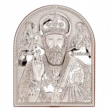 Икона серебряная Николай Чудотворец