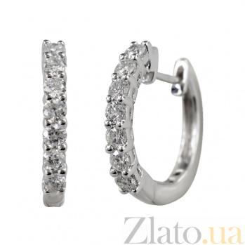 Золотые серьги с бриллиантами Инесса 000026668