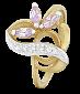 Серебряное кольцо с позолотой и фиолетовым цирконием Розмари  000025568