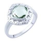 Серебряное кольцо Гиацинта с зеленым аметистом
