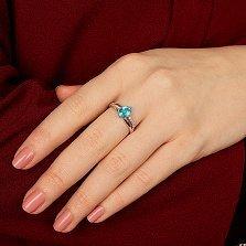 Серебряное кольцо Наваждение с голубым кварцем и фианитами