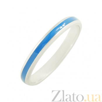 Серебряное кольцо с эмалью Валери  3К598-0007
