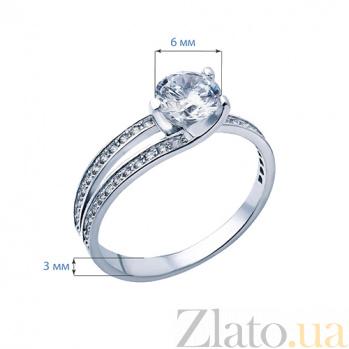Серебряное кольцо с фианитами У побережья AQA--10059/1