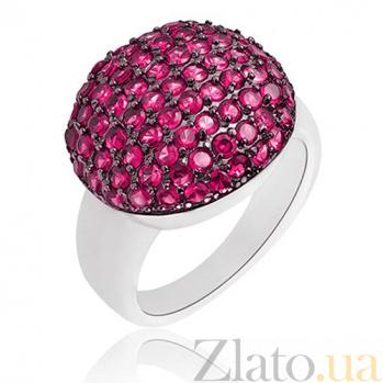 Серебряное кольцо Ангелина Red Viola с камнями Swarovski 10000012