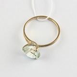 Золотое кольцо с зеленым аметистом Селесте