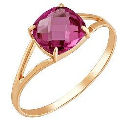 Золотое кольцо с корундом рубина 000049382