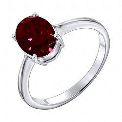 Серебряное кольцо с гранатом 000125023