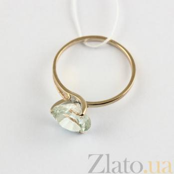 Золотое кольцо с зеленым аметистом Селесте VLN--112-202-5