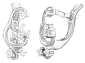 Серебряные серьги с цирконием Дорофея SLX--С2Ф/093
