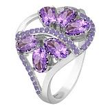 Серебряное кольцо с аметистом Вуаль