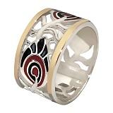 Кольцо из серебра с золотыми вставками Водевиль