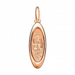 Ладанка из красного золота Божья Матерь 000106449