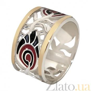 Кольцо из серебра с золотыми вставками Водевиль BGS--677к