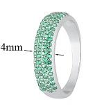 Серебряное кольцо с зелеными фианитами Жазира