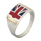 Серебряное кольцо с золотой вставкой Британец