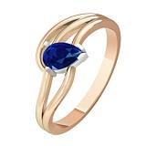 Золотое кольцо с сапфиром Немезида