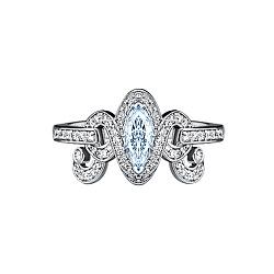 Золотое кольцо с аквамарином и бриллиантами Антуанетта