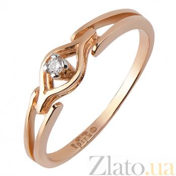 Кольцо из красного золота с бриллиантом Луиза TRF--112747н