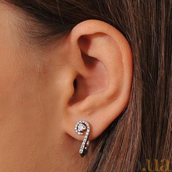 Серьги с бриллиантами из белого золота Небо в алмазах EDM-С7488/1
