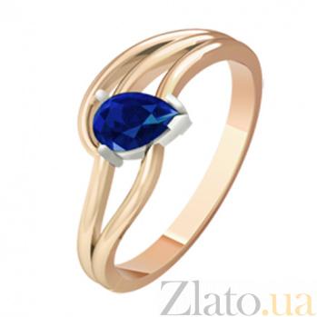 Золотое кольцо с сапфиром Немезида  KBL--К1074/кр/сапф