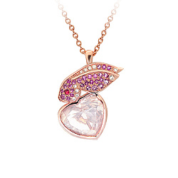 Золотое колье с кварцем, сапфирами и бриллиантами Be my Valentine 000029627