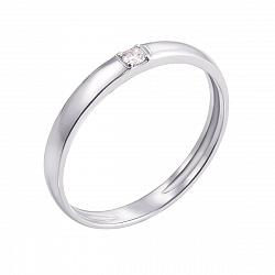 Кольцо из белого золота Путеводная звезда с бриллиантом
