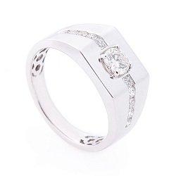 Перстень в белом золоте с бриллиантами 000113182