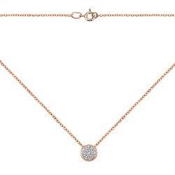 Золотое колье в комбинированном цвете с бриллиантами 000117247