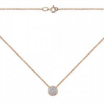 Золоте кольє в комбінованому кольорі з діамантами 000117247