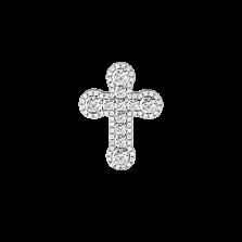 Золотой крестик Элронд в белом цвете с бриллиантами