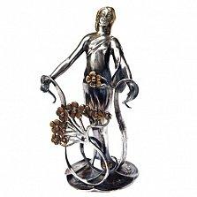 Серебряная визитница Юнона с позолотой