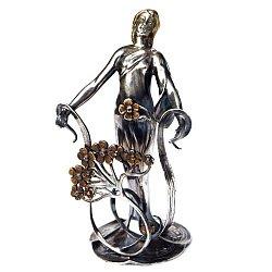 Серебряная визитница с позолотой 000004208