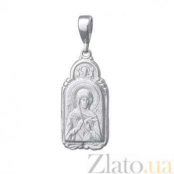 Серебряная ладанка Святая Мадонна 000028486