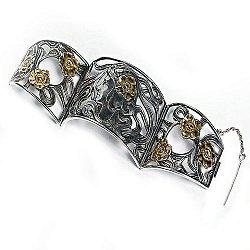 Серебряный браслет Гестия с позолотой