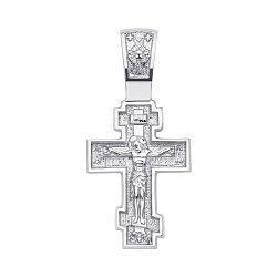 Православный серебряный крестик 000130848