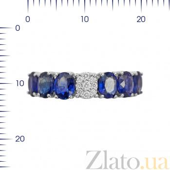 Кольцо из белого золота Каталина с сапфирами и бриллиантами 000080946