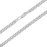 Серебряная цепочка Бисмарк, 4мм