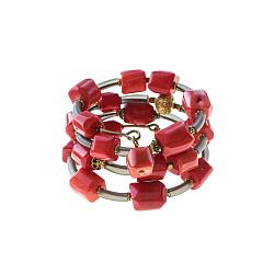 Спиральный браслет Осенние краски с кораллами 000071374