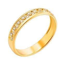 Кольцо из желтого золота с фианитами 000130224