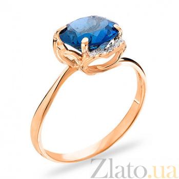 Золотое кольцо с топазом и фианитами Дакей SUF--140564Пл