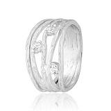 Серебряное кольцо с фианитами Девара