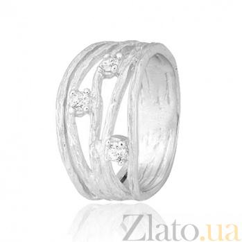 Серебряное кольцо с фианитами Девара 000028108