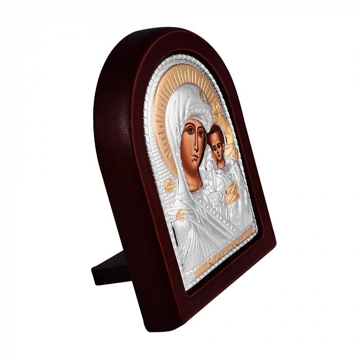 Икона Божия Матерь Казанская с серебрением и позолотой на деревянной основе 000131698 000131698