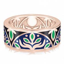 Мужское обручальное кольцо Талисман Веры с эмалью